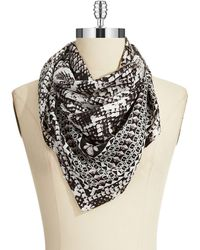 BCBGMAXAZRIA Serpent and Jewels Square Scarf - Lyst