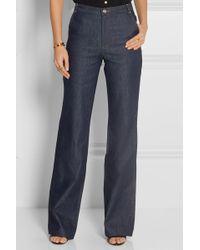Vanessa Seward Victoire High-rise Slim-leg Jeans - Blue