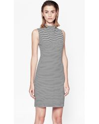 French Connection Liquorice Lines Sleeveless Dress - Lyst
