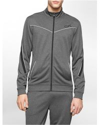 Calvin Klein White Label Performance Classic Fit Mock Neck Elite Track Jacket - Lyst