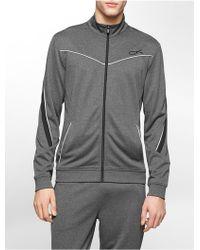 Calvin Klein White Label Performance Classic Fit Mock Neck Elite Track Jacket - Lyst