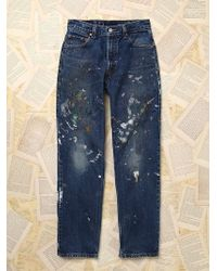 Free People Womens Vintage Levi'S Jeans - Lyst
