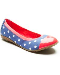 Kenneth Cole Reaction Buck N Roll Polka Dot Ballet Flats - Lyst
