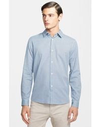 A.P.C. Extra Trim Fit Check Sport Shirt - Lyst