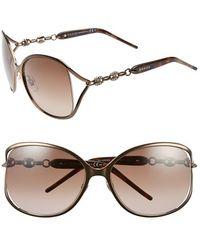 Gucci 'Marina Chain' 60Mm Swarovski Crystal Sunglasses - Bronze gold - Lyst