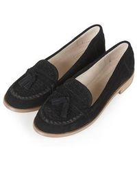 Topshop Lincoln Loafers black - Lyst