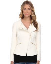 Ted Baker Ayeleen Zip Fold Front Biker Jacket - Lyst