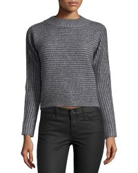 Todd And Duncan - Cashmere Ribbed Mock-neck Sweater - Lyst