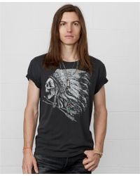 Denim & Supply Ralph Lauren Headdress Print Cotton T-Shirt - Lyst