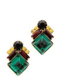 Elizabeth Cole Ryder Earrings  Burgundy - Lyst