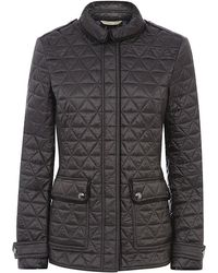 Burberry Brit Leather Detail Quilted Jacket - Lyst