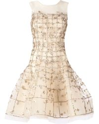 Oscar de la Renta Sleeveless Embellished Dress - Lyst