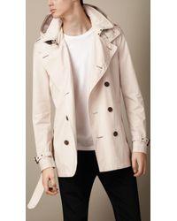 Burberry Cotton Poplin Trench Coat - Lyst