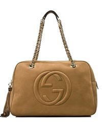 Gucci Camel Beige Soho Tote Bag - Lyst