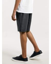 LAC - Bk Leather Look Shorts - Lyst