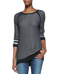 Rag & Bone Martina Stripeddetail Jersey Pullover Top - Lyst