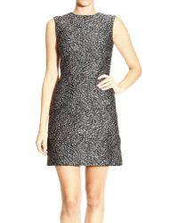 Balenciaga Dress Sleeveless Round Neck Jaquard Astrakan - Lyst