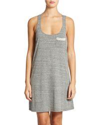 Lucky Brand Crochet Trim Tank Dress - Lyst
