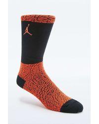 Nike Original Jordan Elephant Orange Crew Socks