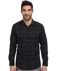 Calvin Klein Large Jaquard Check Long Sleeve Woven Shirt - Lyst