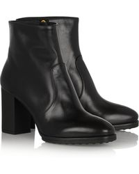 Tod's Leather Ankle Boots - Lyst