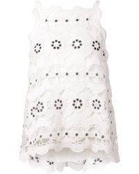 Chloé Spring Lace Top - Lyst