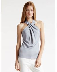 Halston | Arch Ring Hardware Knit Top | Lyst