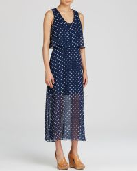 Two By Vince Camuto Polka Dot Midi Dress - Lyst