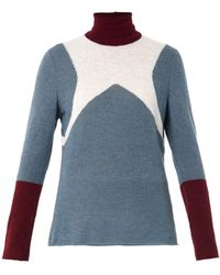 Undercover Colour-Block Alpaca-Blend Sweater - Lyst