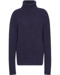 Orley - Blueberry Ribbed Cashmere Turtleneck - Lyst