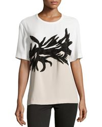Jason Wu Botany Applique T-Shirt - Lyst
