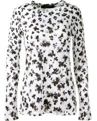 Thakoon Black and White Flower Printed Tshirt - Lyst