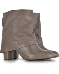 See By Chloé Melia Taupe Leather Mid-Calf Boots - Lyst