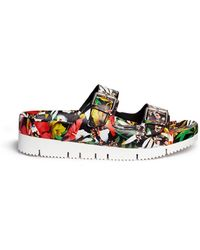 Ash 'Takoon' Floral Print Leather Sandals multicolor - Lyst