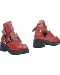 Jeffrey Campbell Red Ankle Boots - Lyst