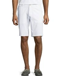 Neiman Marcus - Corduroy Flat-front Shorts - Lyst