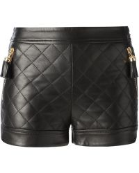 Moschino Black Quilted Shorts - Lyst