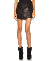 Isabel Marant Hutt Leather Skirt - Lyst