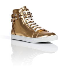 DSquared² Metallic Leather Sneakers - Lyst