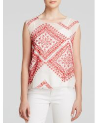 Twelfth Street Cynthia Vincent Top - Embroidered Silk Shell - Lyst
