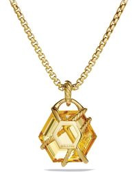 David Yurman - Cable Wrap Pendant With Champagne Citrine - Lyst