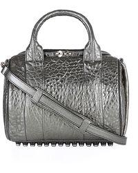 Alexander Wang Metallic Rockie Nickel Stud Duffle Bag - Lyst