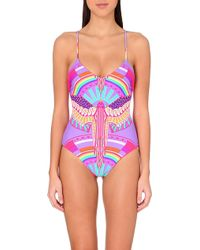 Mara Hoffman Reversible Lace-Up Maillot Onepiece Swimsuit - For Women - Lyst