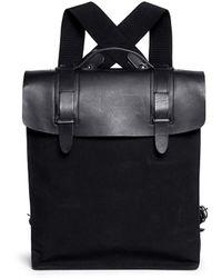 Seventy Eight Percent - Esteban Leather Canvas Backpack - Lyst