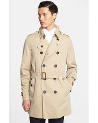 Burberry London Men'S 'Britton' Cotton Trench Coat - Lyst
