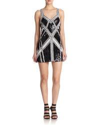 Parker Embellished Silk Mini Dress - Lyst