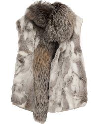 Isabel Marant Aloa Fox Fur Gilet - Lyst