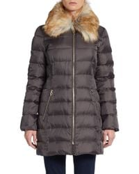 Ivanka Trump Faux Fur-collar Down Puffer - Lyst