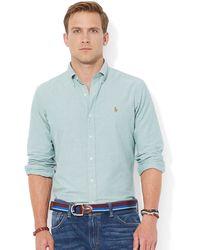 Polo Ralph Lauren Green Oxford Shirt - Lyst