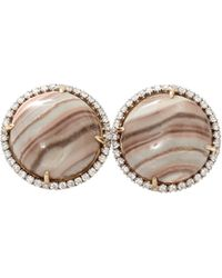 Pamela Huizenga - Saturn Chalcedony Stud Earrings - Lyst